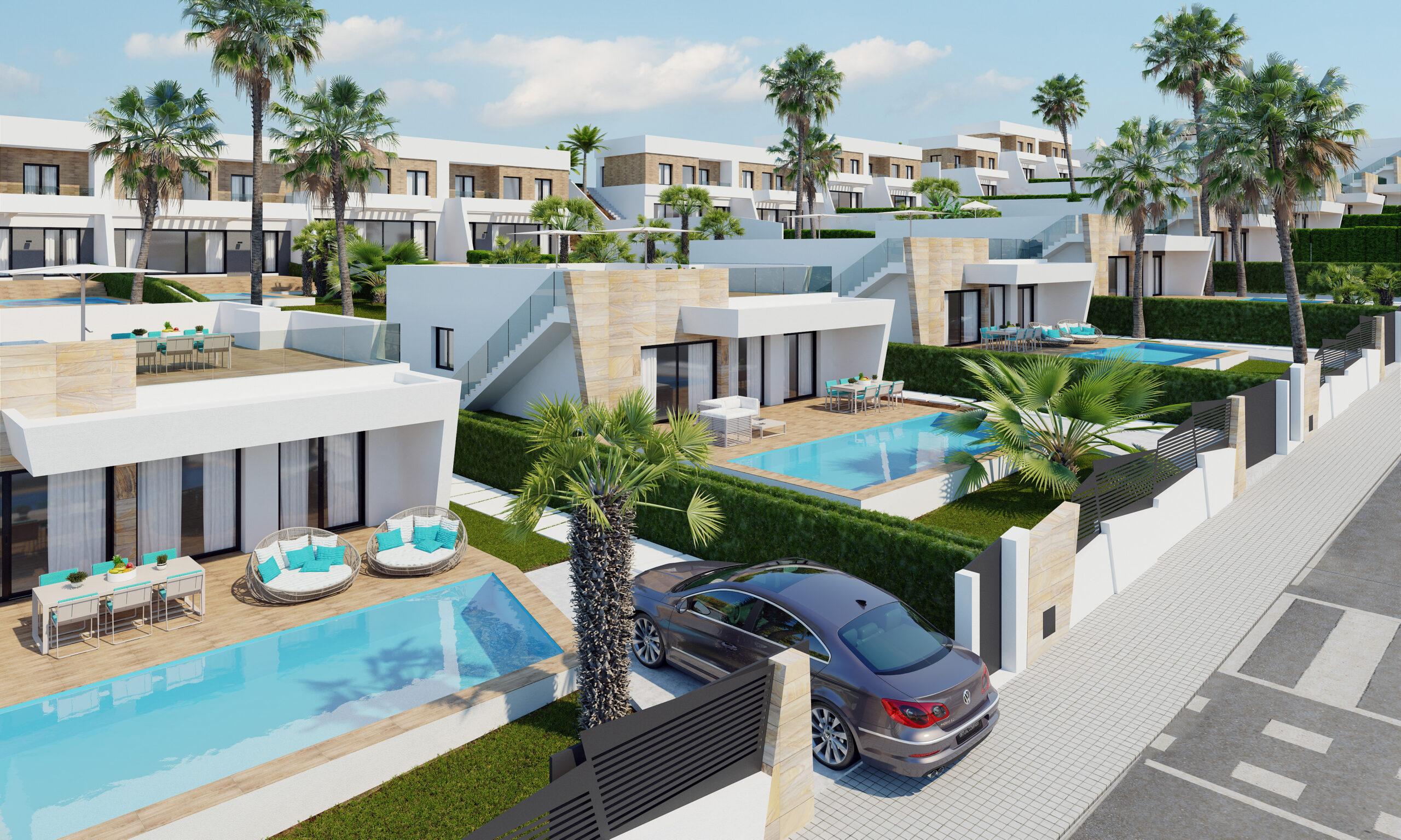 Villa moderna adosada en un residencial con vistas al mar! PD-19117